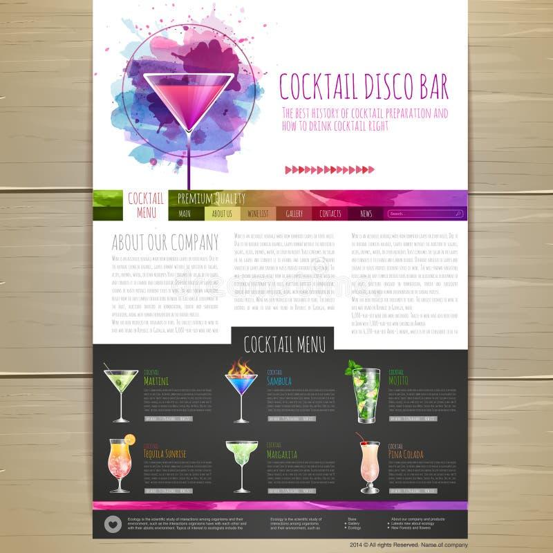 Download Het Conceptontwerp Van De Waterverfcocktail Collectieve Identity Abstracte Stad Vector Illustratie - Illustratie bestaande uit jenever, identiteit: 54080250