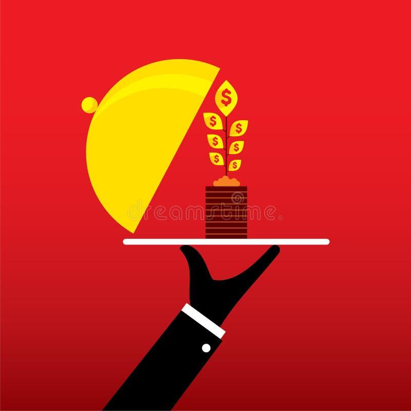 Het conceptontwerp van het bedrijfs de groeiplan stock illustratie