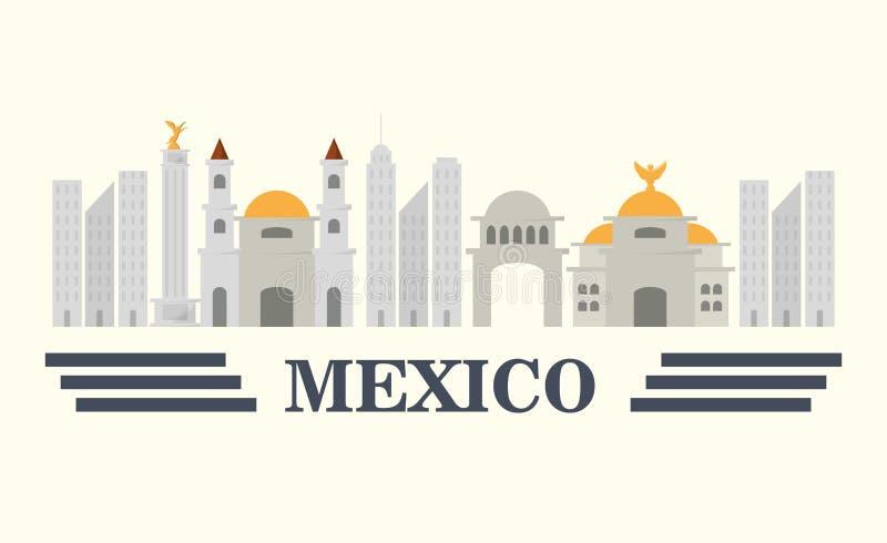 Het conceptontwerp van Mexico stock illustratie