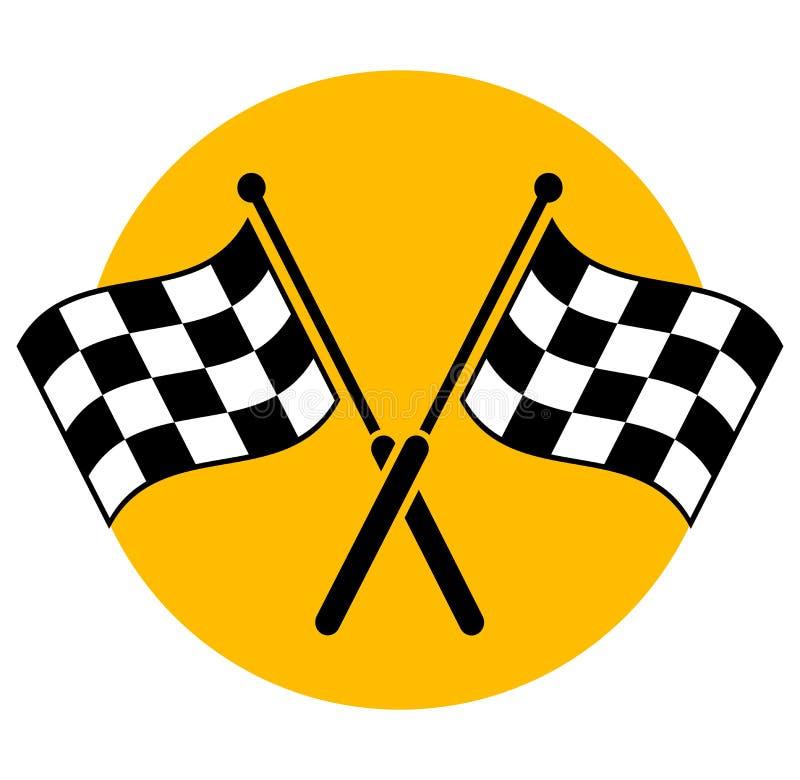 Het conceptontwerp van het vlaggenpictogram vector illustratie