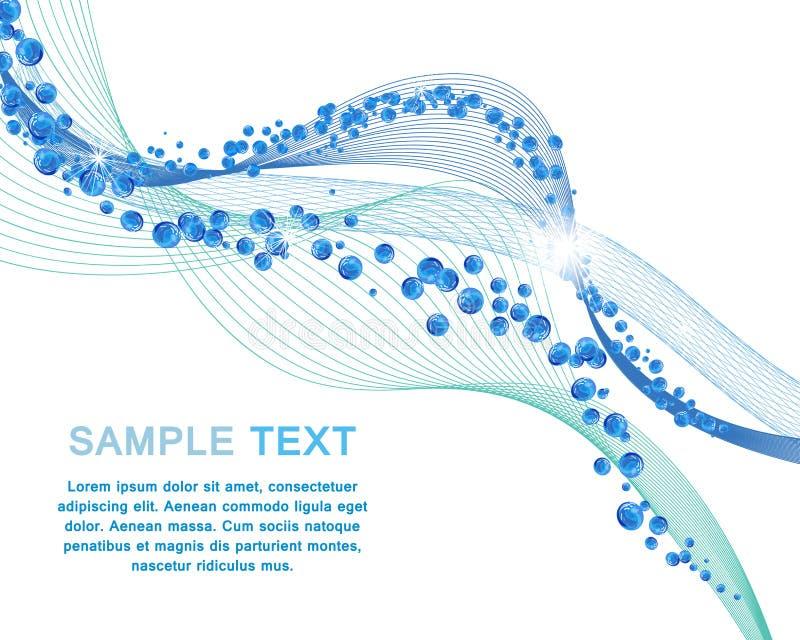Het conceptontwerp van waterlijnen vector illustratie