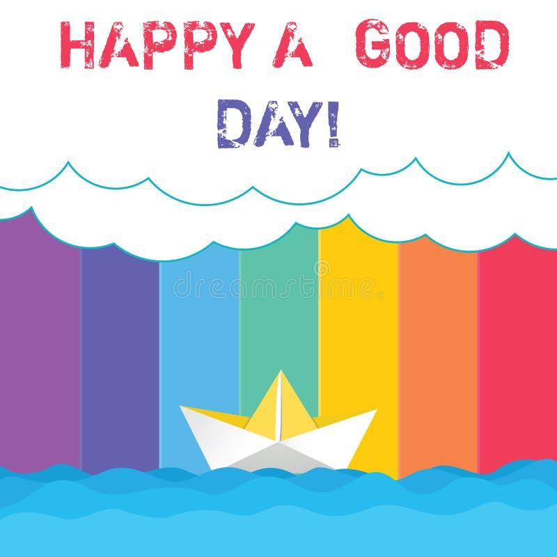 Het conceptuele hand het schrijven Gelukkig tonen een Goede Dag Bedrijfsfoto demonstratiebeste wensen voor u om gelukkige tijden  vector illustratie