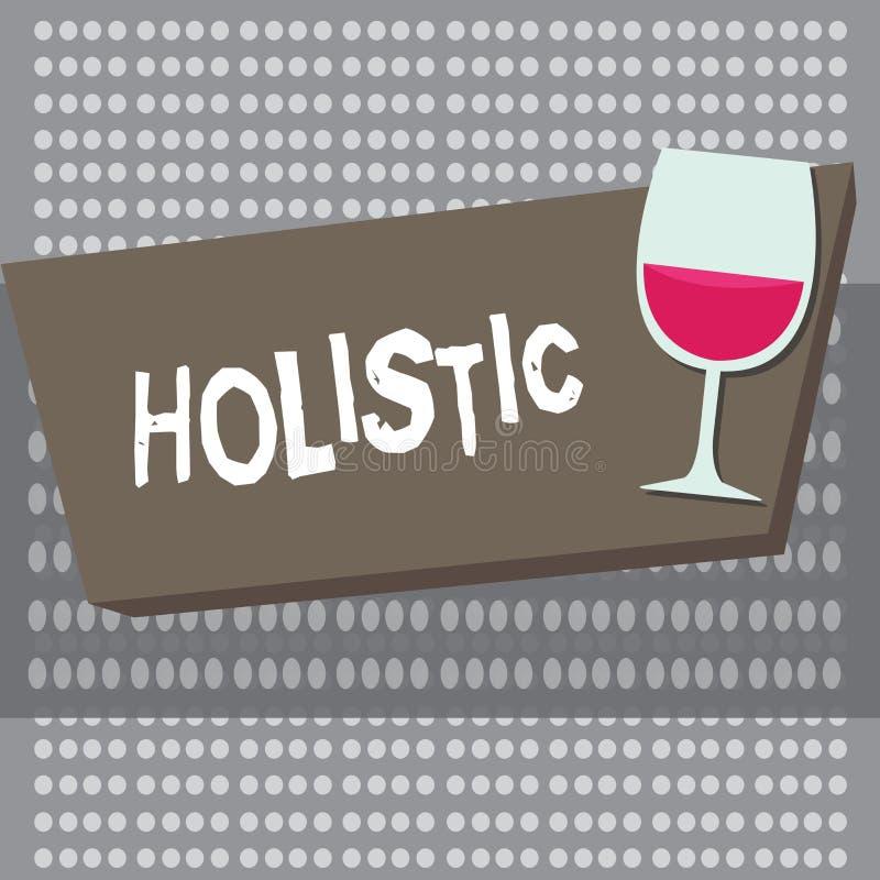 Het conceptuele hand het schrijven Holistic tonen Bedrijfsfoto die gekenmerkt geloof intiem demonstreren dat delen iets vector illustratie