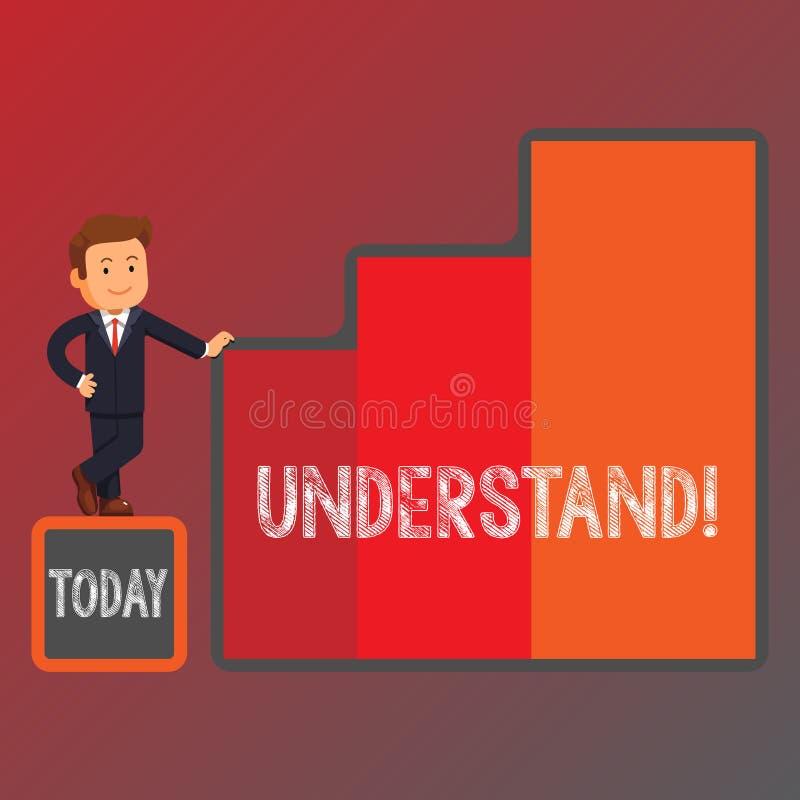 Het conceptuele hand het schrijven tonen begrijpt Bedrijfsfoto demonstratiecapaciteit om voorgenomen betekenis van iets waar te n vector illustratie