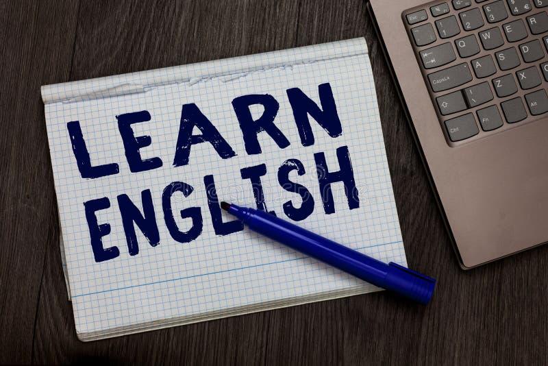 Het conceptuele hand het schrijven tonen leert het Engels Begrijpt de Universele de Taal Gemakkelijke Mededeling van de bedrijfsf stock afbeeldingen