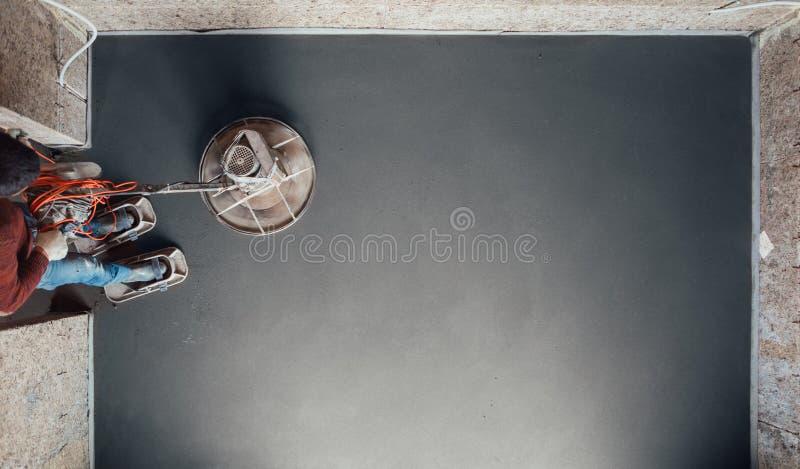 Het concrete vloer definitieve malen, hoogste mening royalty-vrije stock fotografie