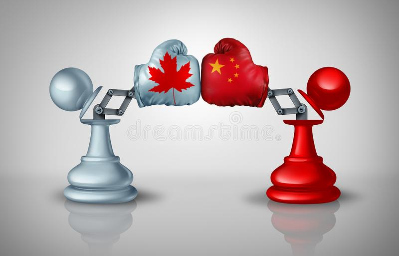 Het Conflict van China Canada vector illustratie