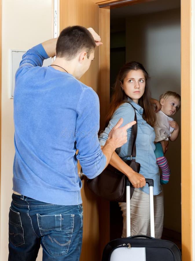 Het conflict van de familie stock fotografie