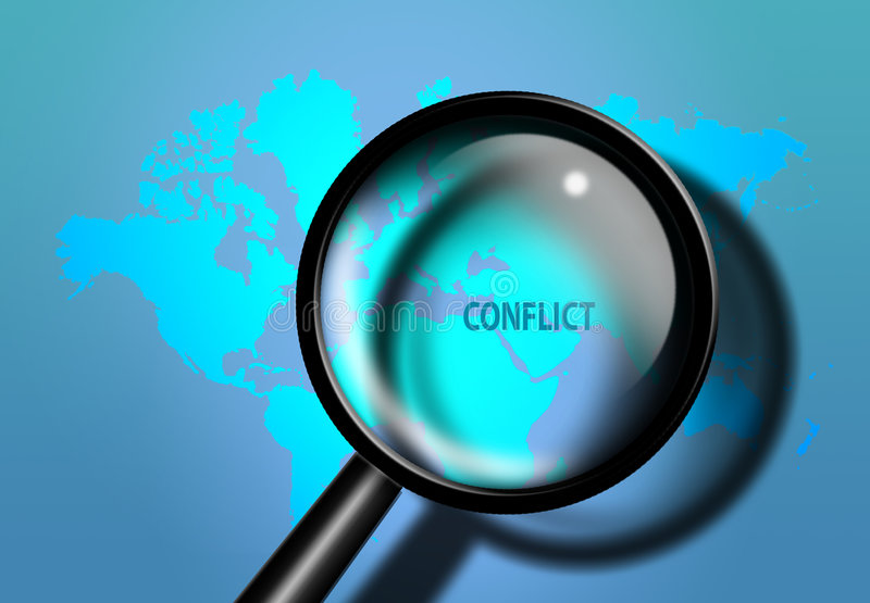 Het conflict van het Midden-Oosten vector illustratie