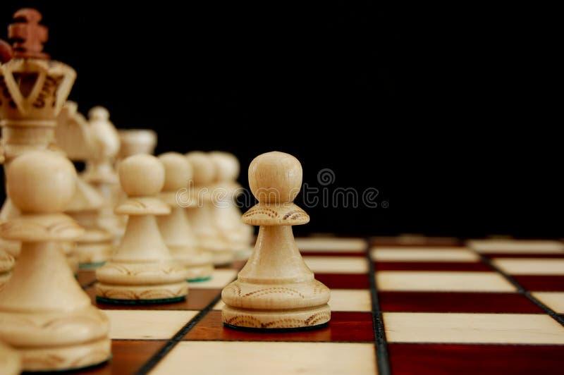 Het conflict van het schaak royalty-vrije stock foto