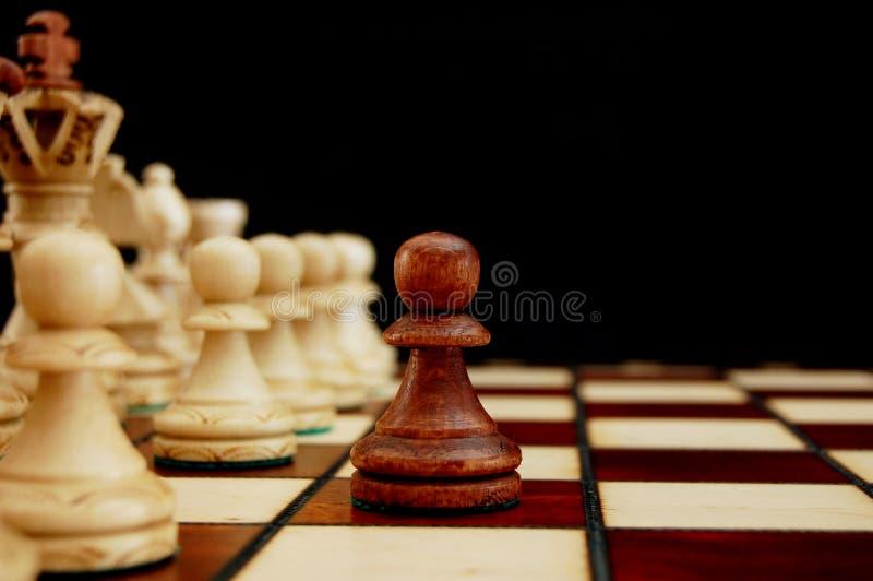 Het conflict van het schaak stock fotografie