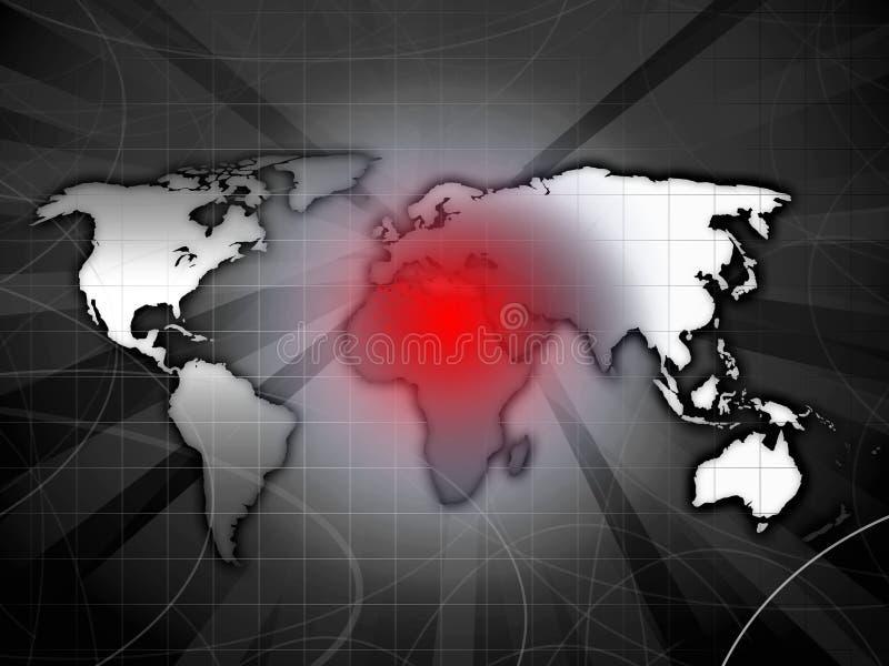 Het conflictkaart van Afrika vector illustratie