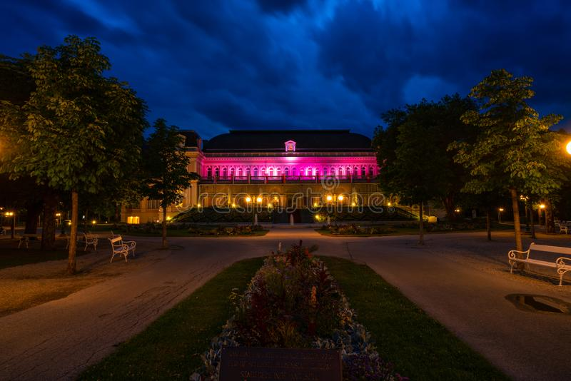 Het Congres en Theaterhuis in Slechte Ischl, Oostenrijk royalty-vrije stock afbeelding