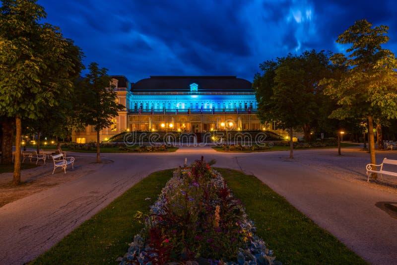 Het Congres en Theaterhuis in Slechte Ischl, Oostenrijk royalty-vrije stock foto