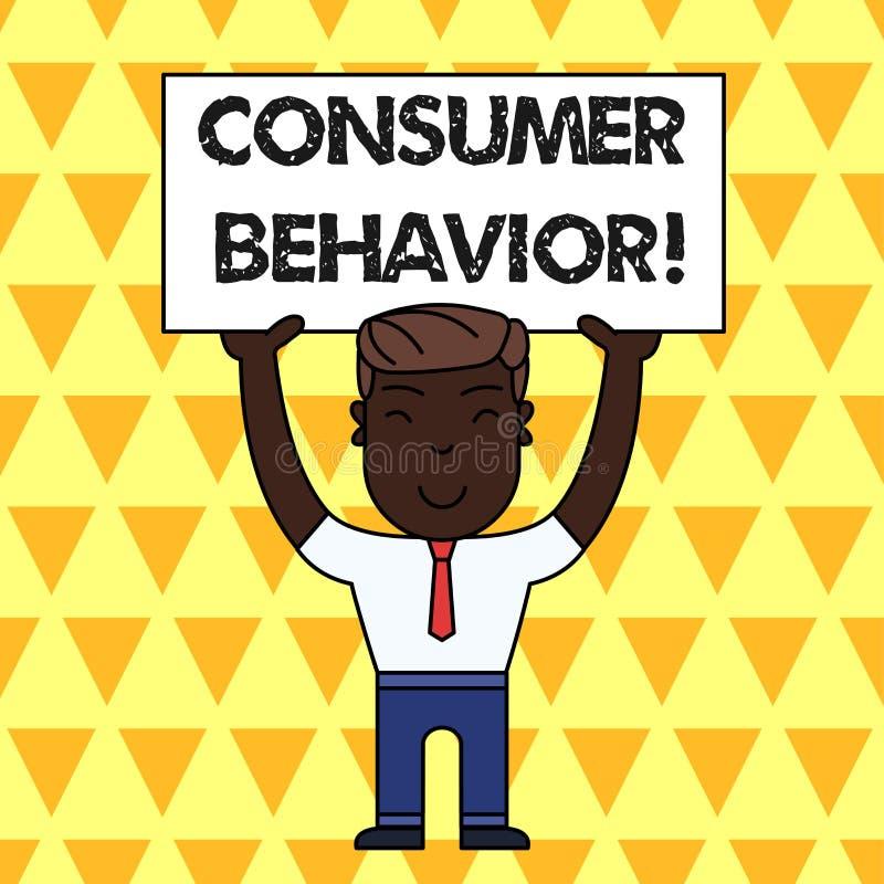 Het Consumentengedrag van de handschrifttekst Concept die studie betekenen van hoe de individuele klanten met merk het Glimlachen vector illustratie
