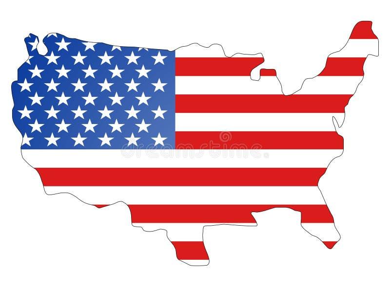 Het continent van Amerika royalty-vrije illustratie