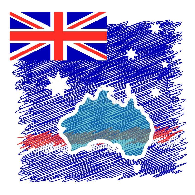 Het Continent van het Land van Australië stock illustratie