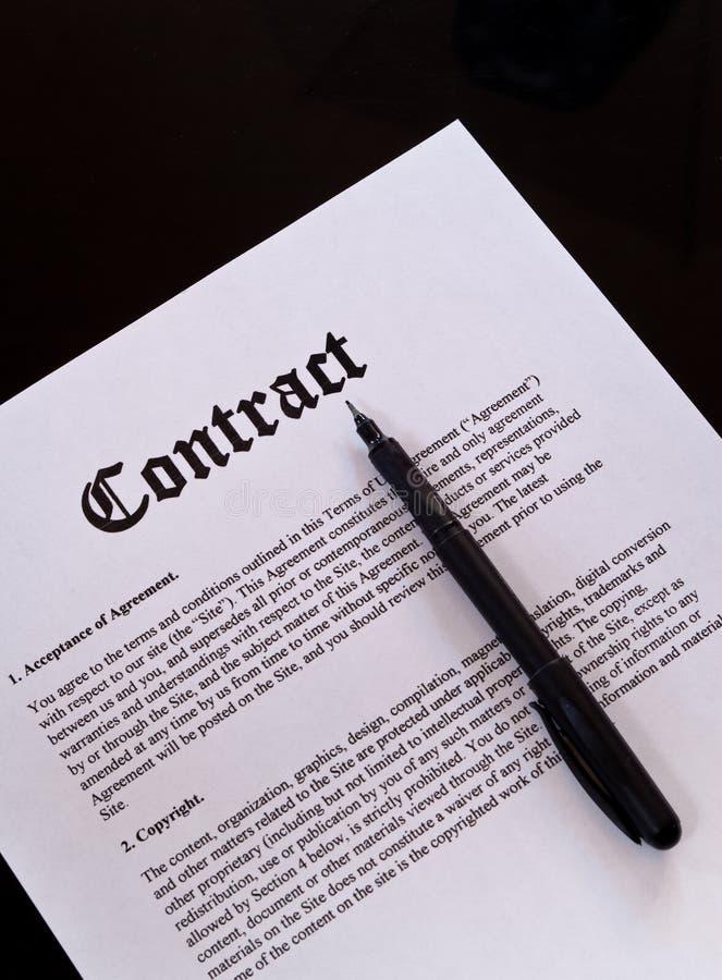 Het contract stock afbeelding