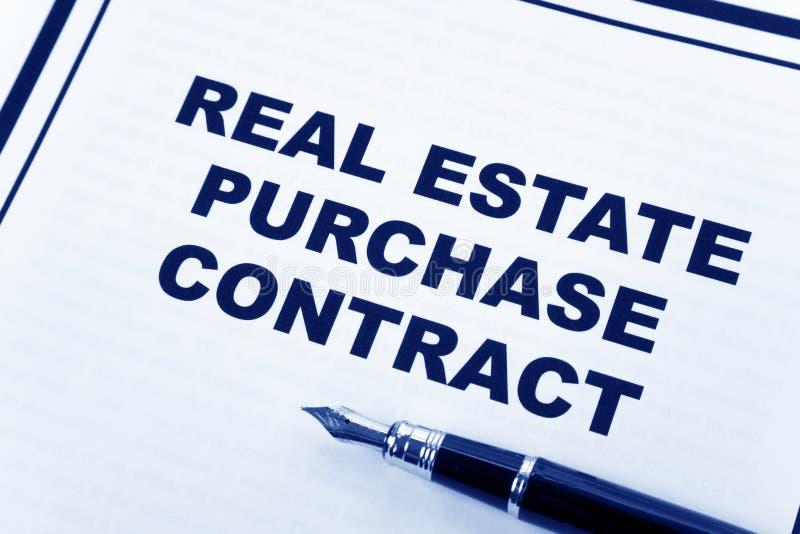 Het Contract van de Aankoop van onroerende goederen royalty-vrije stock afbeelding