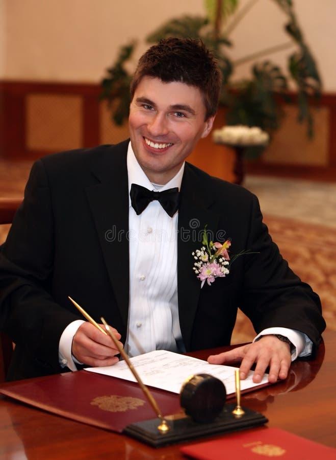Het contract van het huwelijk royalty-vrije stock foto's