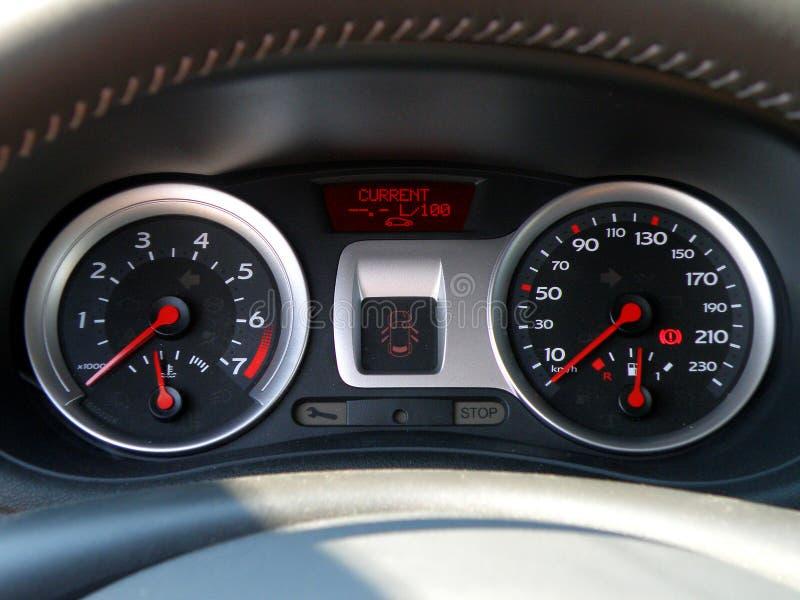 Het controlebord van de auto royalty-vrije stock foto