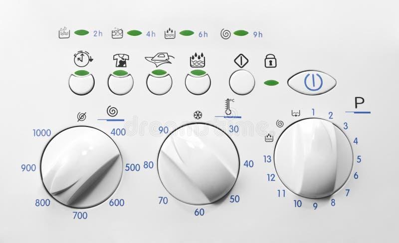 Het controlebord van de wasmachine royalty-vrije stock afbeelding