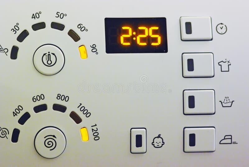 Het controlebord van de wasmachine stock fotografie
