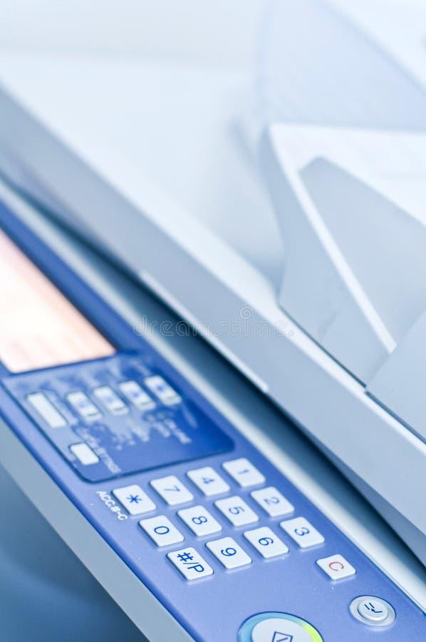 Het controlebord van het kopieerapparaat stock fotografie
