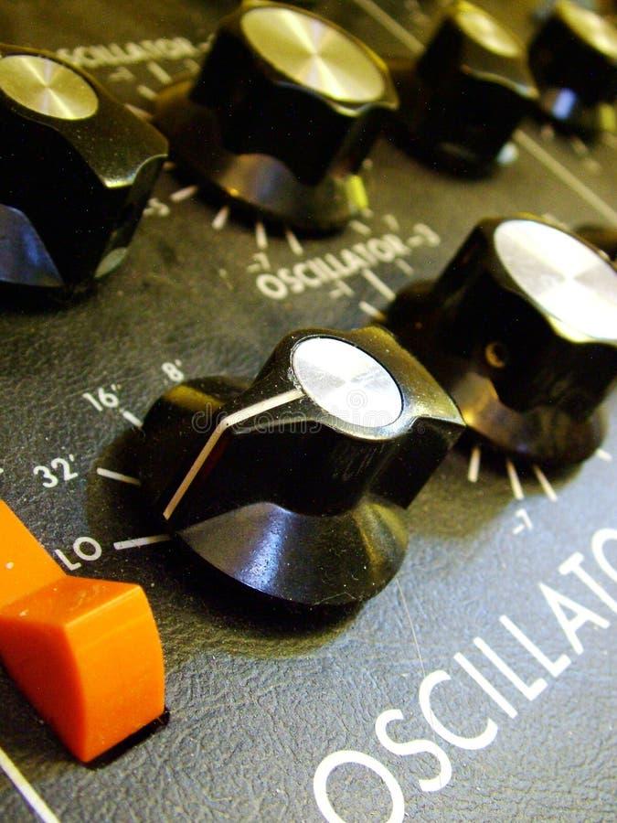 Het Controlebord van Moog stock afbeeldingen
