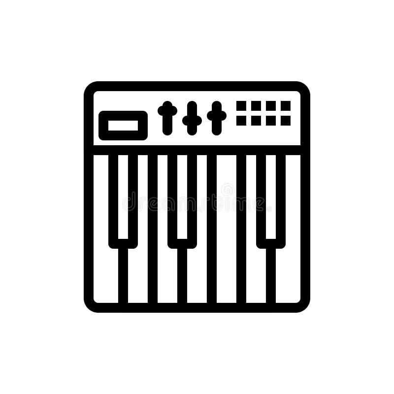 Het controlemechanisme, de Hardware, het Toetsenbord, Midi, de Muziek Blauwe en Rode Download en kopen nu de Kaartmalplaatje van  royalty-vrije illustratie