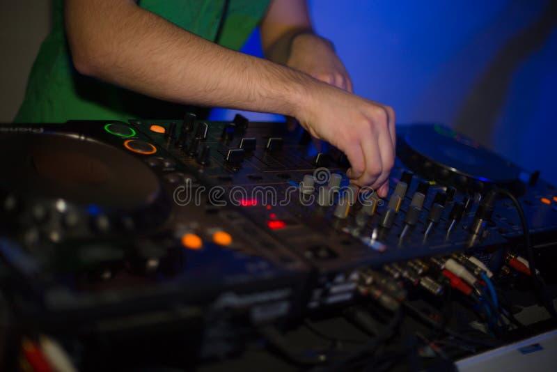 Het controlemechanisme van DJ stock foto