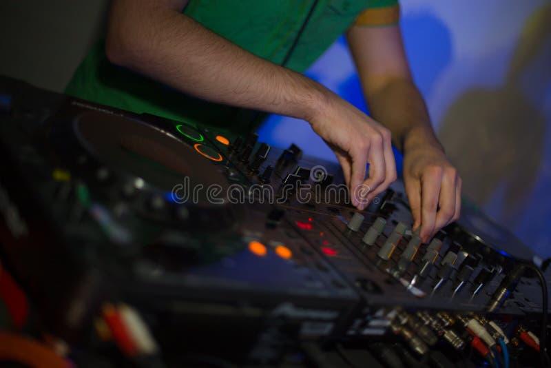 Het controlemechanisme van DJ royalty-vrije stock foto