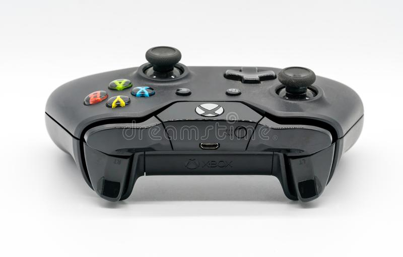 Het Controlemechanisme van Microsoft Xbox, Spelconsole door Microsoft illustrati stock afbeelding