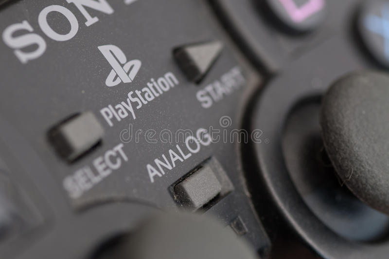 Het controlemechanisme van Sony Playstation royalty-vrije stock foto's
