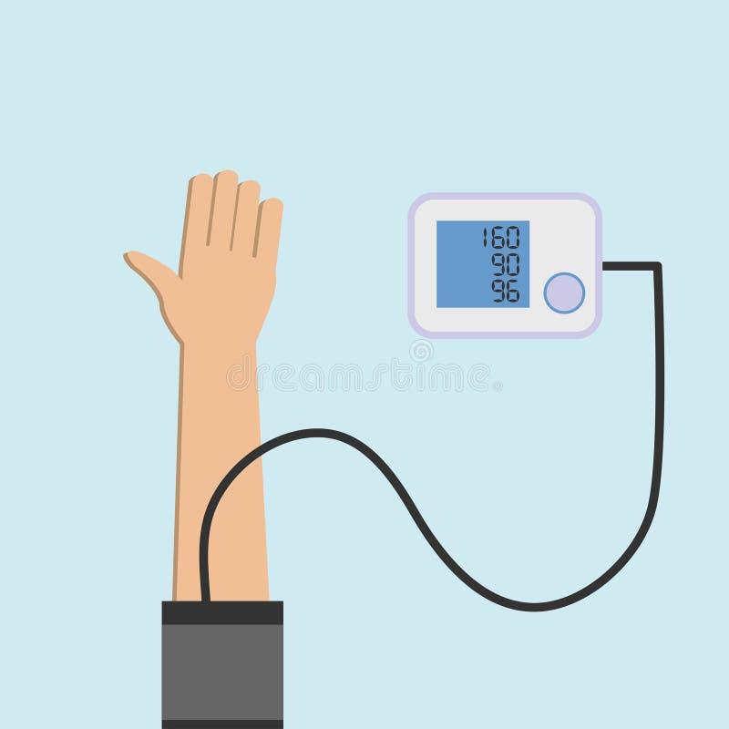 Het controleren van bloeddruk royalty-vrije illustratie