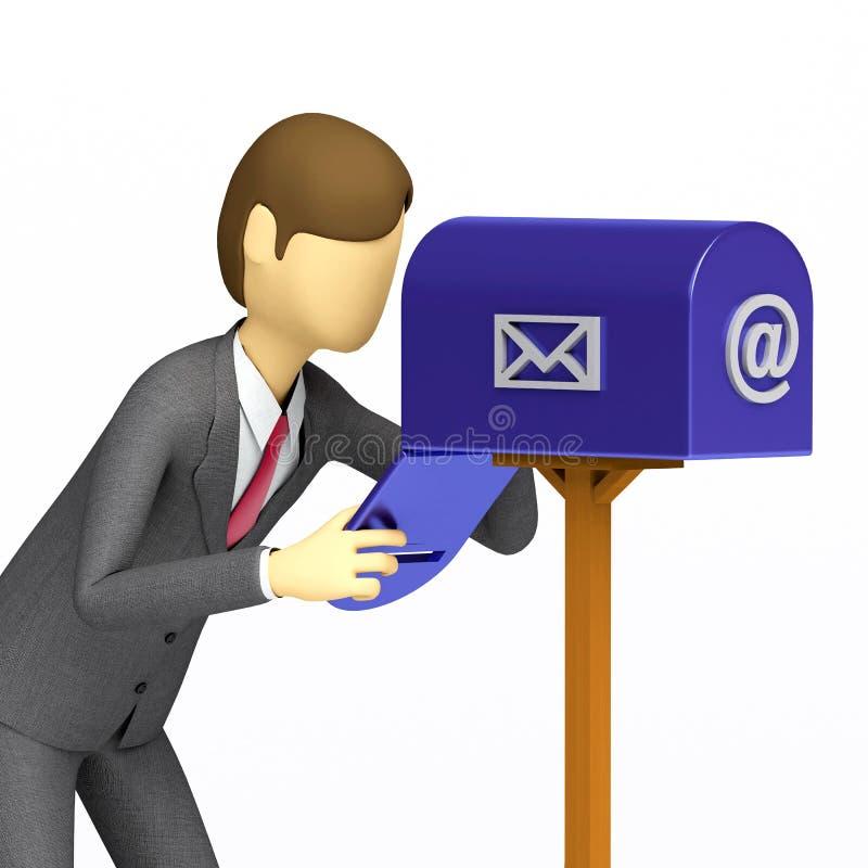 Het controleren van de brievenbus royalty-vrije illustratie