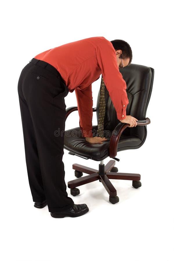 Het controleren van de stoel stock afbeeldingen