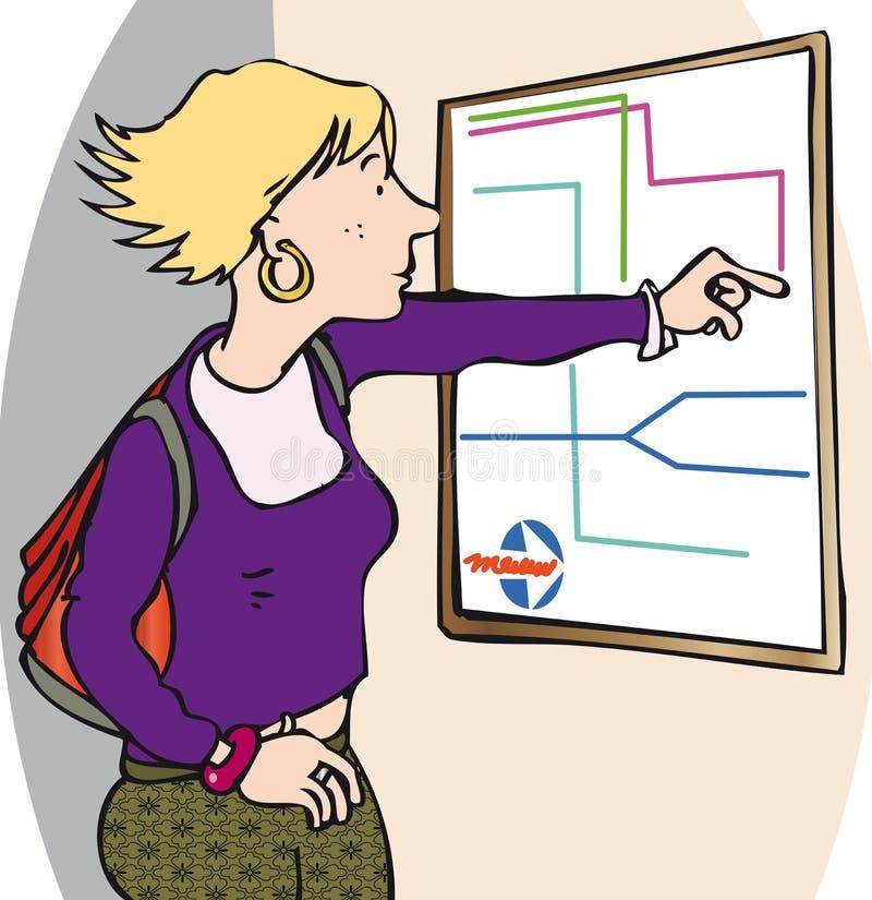 Het controleren van kaart royalty-vrije illustratie