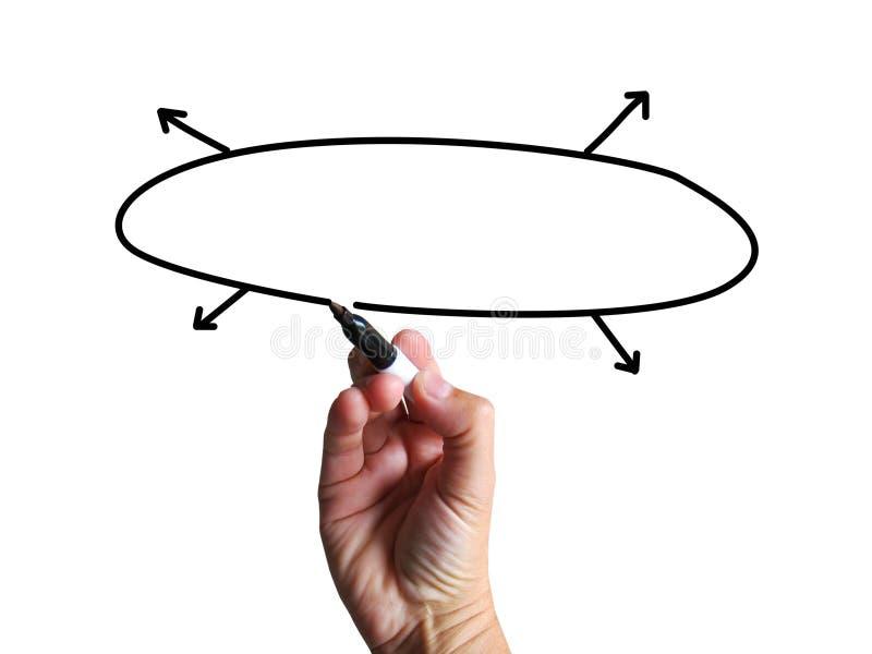 Het Copyspacediagram toont Lege het Businessplanpijlen van Proces royalty-vrije illustratie
