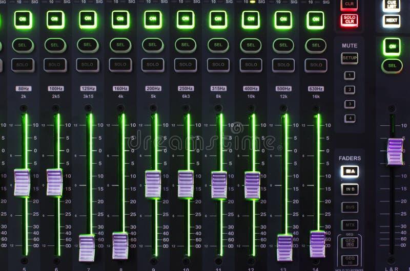 Het correcte Systeem van de Mixer met Licht royalty-vrije stock afbeeldingen