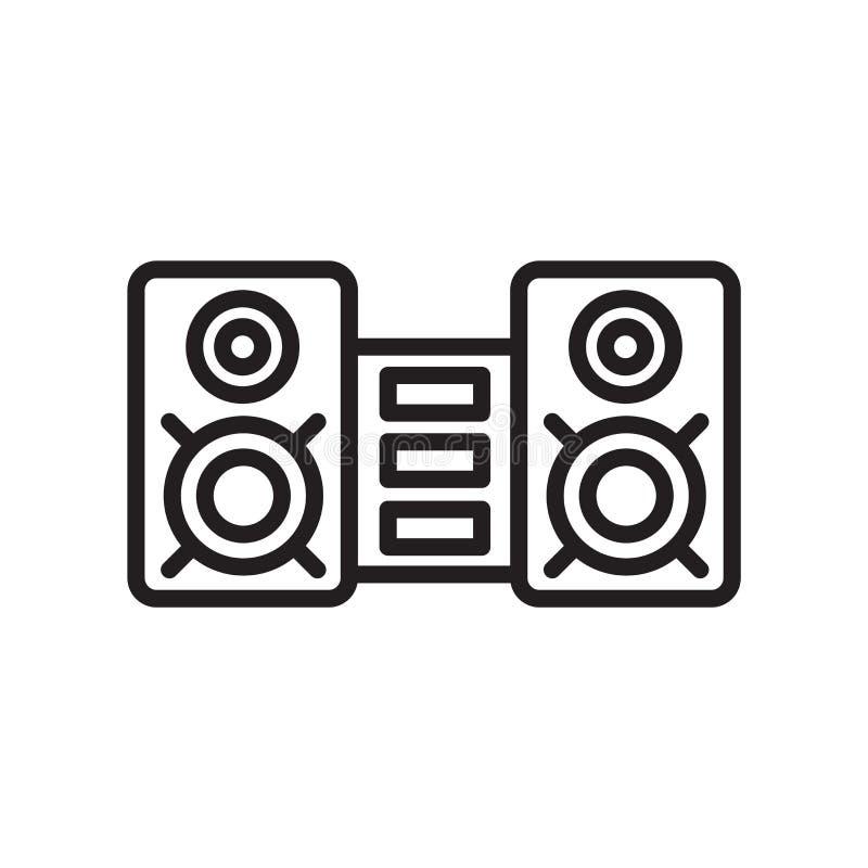 Het correcte teken en het symbool van het systeempictogram vectordie op witte backg wordt geïsoleerd stock illustratie