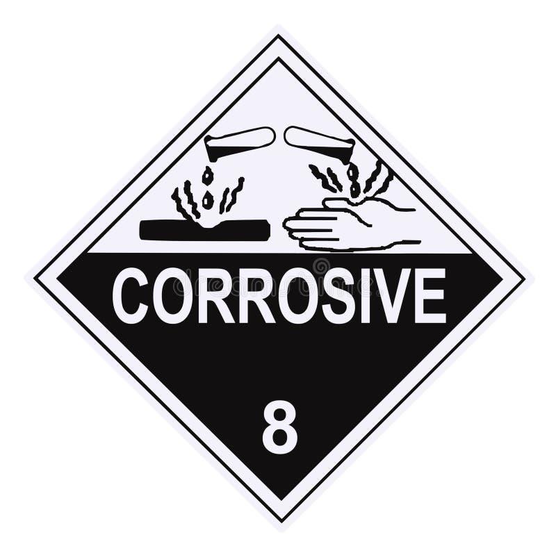 Het corrosieve Etiket van de Waarschuwing stock illustratie