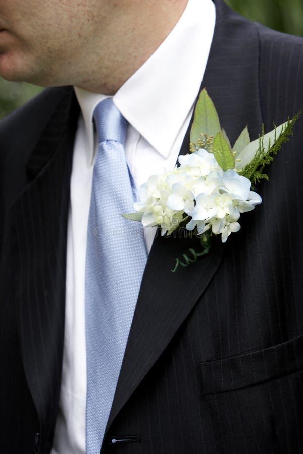 Het Corsage van bruidegoms stock afbeeldingen