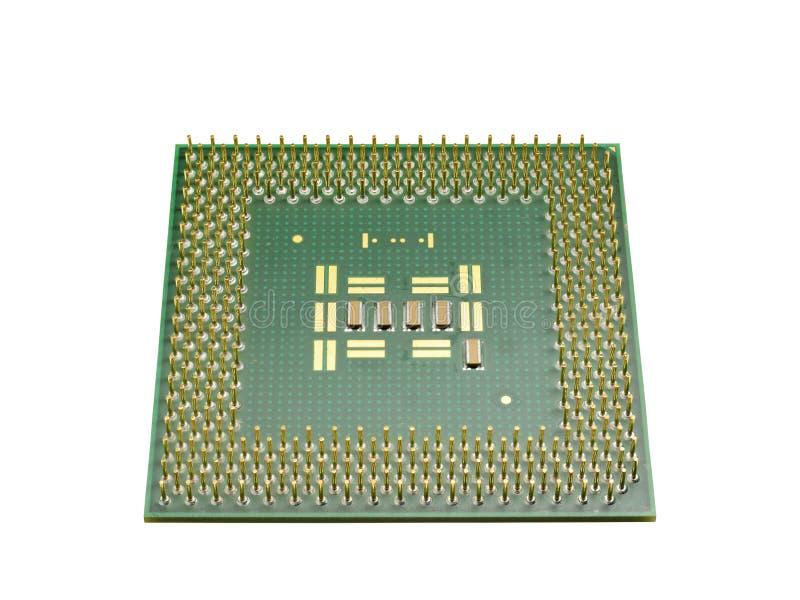 Het CPU voor de personal computer op een witte achtergrond wordt geïsoleerd die stock afbeeldingen