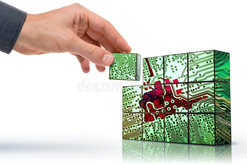 Het creëren van technologie stock afbeelding