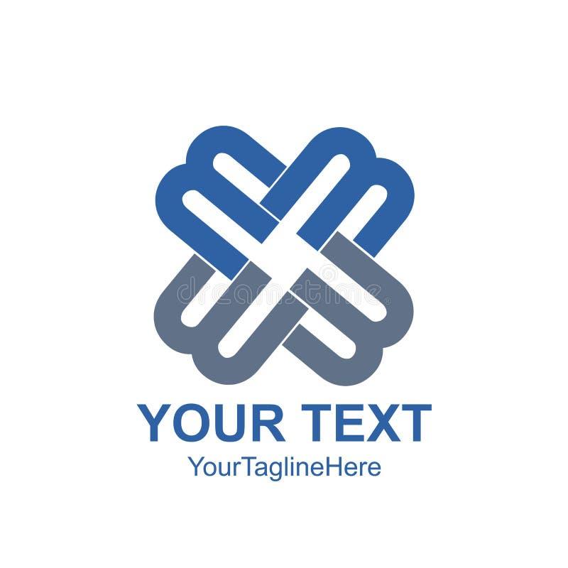 Het creatieve abstracte element van het het ontwerpmalplaatje van het brievenm vectorembleem vector illustratie