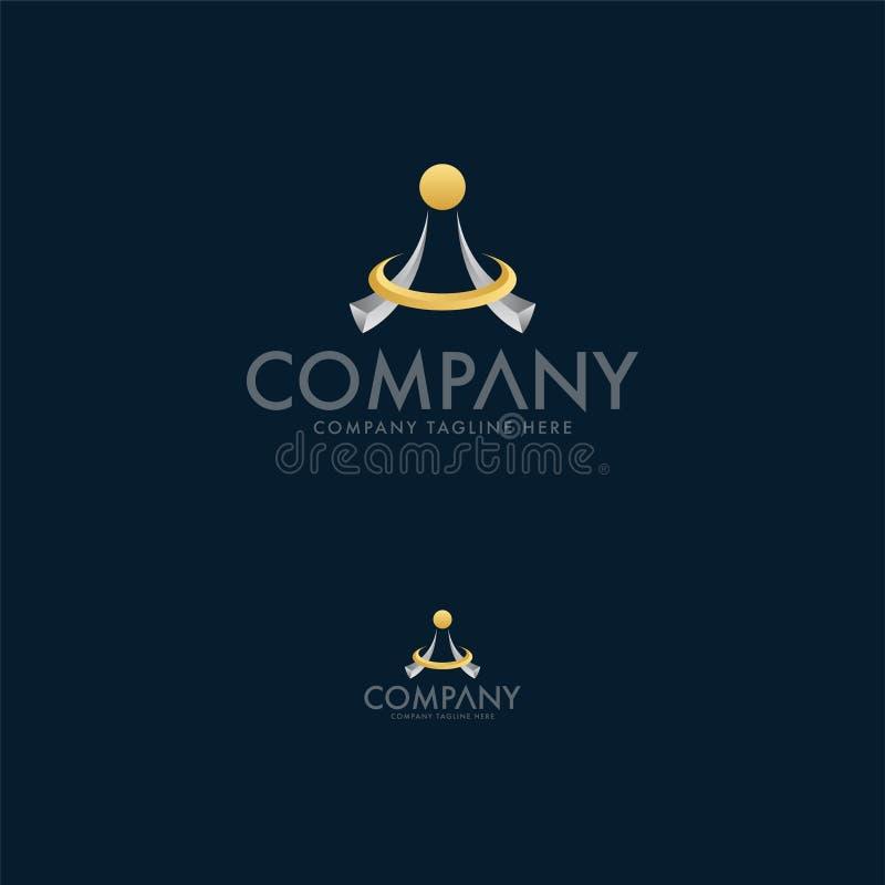 Het creatieve abstracte malplaatje van het embleemontwerp Juwelen Logo Template vector illustratie