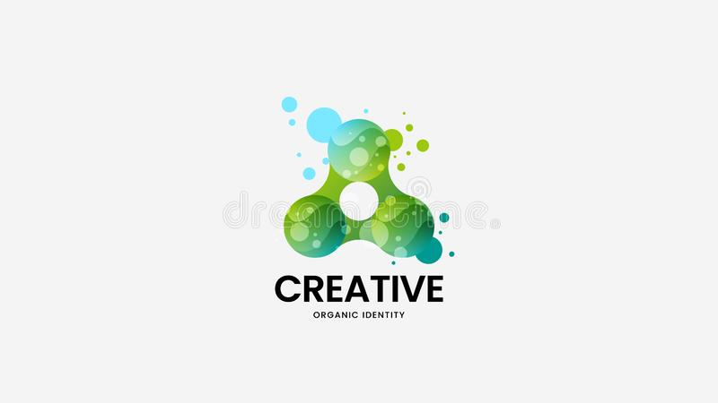 Het creatieve abstracte teken van het natuurvoeding vectorembleem De illustratie van het Logotypeembleem Het ontwerplay-out van h royalty-vrije illustratie