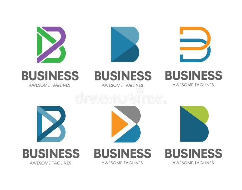 Het creatieve B-vastgestelde concept van het brieven Vectorembleem vector illustratie