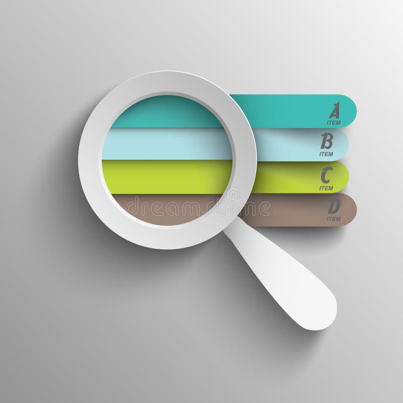 Het creatieve bedrijfsgrafiek overdrijven om oplossingen te vinden stock illustratie